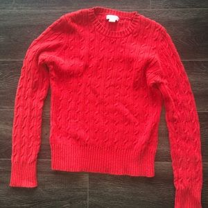 🛍Red cable knit sweater